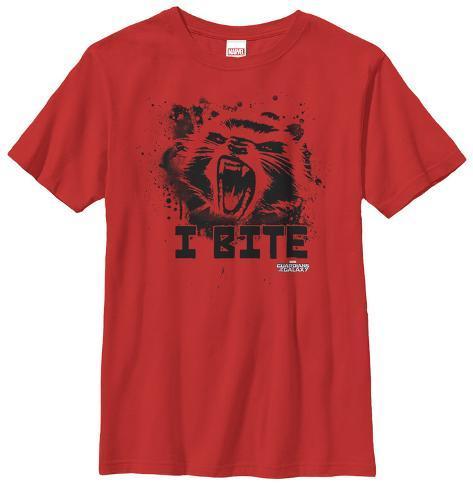 Youth: Rocket Racoon- Furry Bite Kids T-Shirt