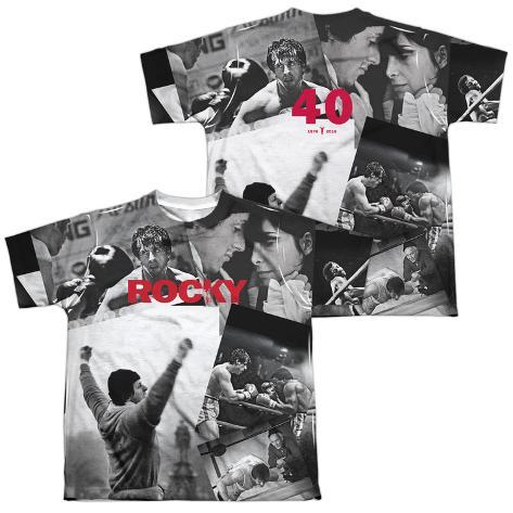 Youth: Rocky- 40TH Anniversay Collage (Front/Back) Kids T-Shirt