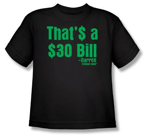 Youth: Storage Wars - 30$ Bill T-Shirt