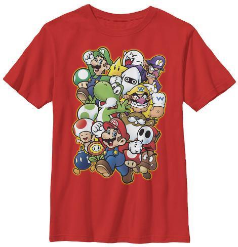 Youth Super Mario Character Parade T Shirt Allposters