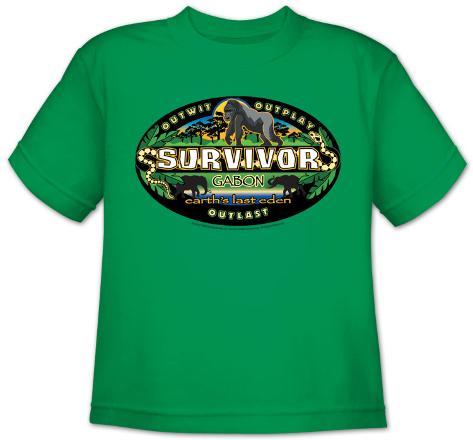 Youth: Survivor - Gabon Logo T-Shirt