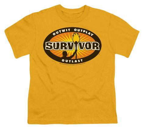 Youth: Survivor - Gold Burst Kids T-Shirt
