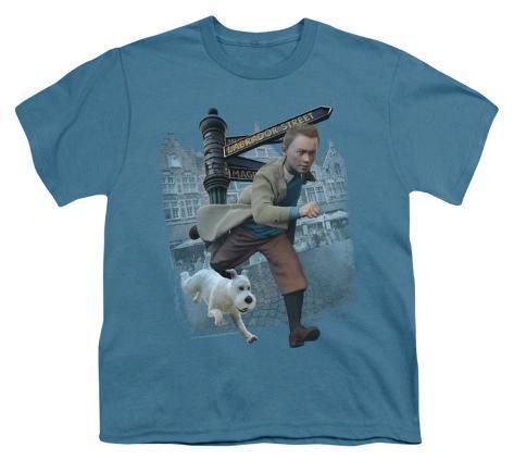 Youth: The Adventures of TinTin - Labrador Street Kids T-Shirt
