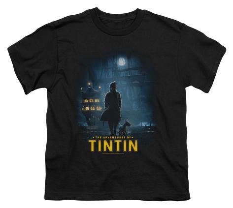 Youth: The Adventures of TinTin - Tintin Poster Kids T-Shirt