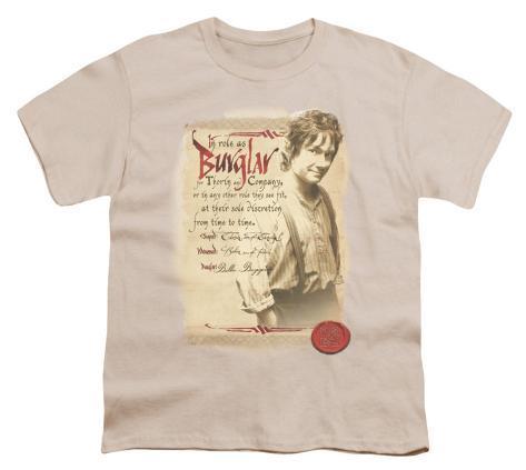 Youth: The Hobbit - Burglar Kids T-Shirt