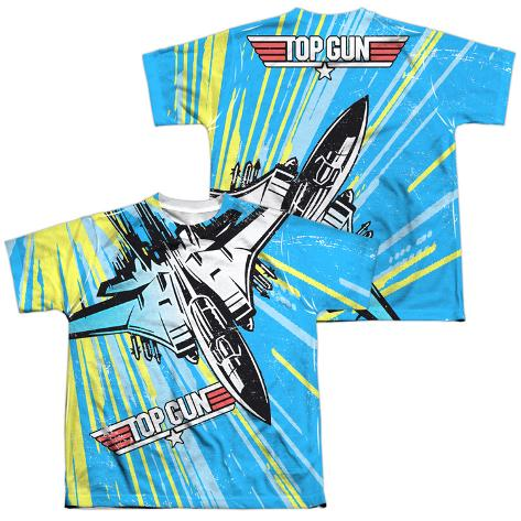 Youth: Top Gun- Rad Jet (Front/Back) Kids T-Shirt