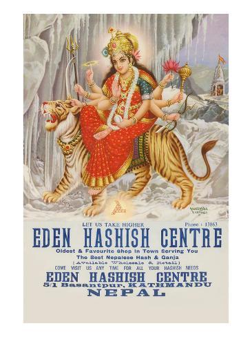 Eden Hashish Center Art Print