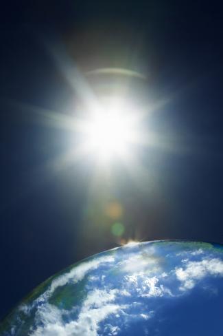 Sun & Earth Photographic Print