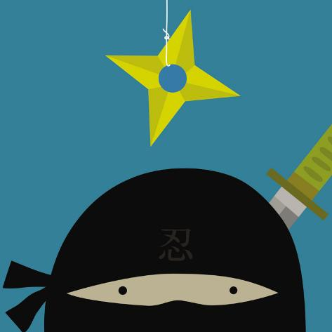 Peek-a-Boo Heroes: Ninja Art Print