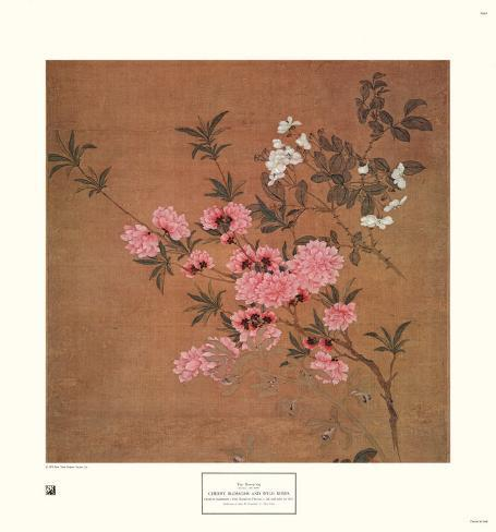 Cherry Blossoms and Wild Roses Art Print