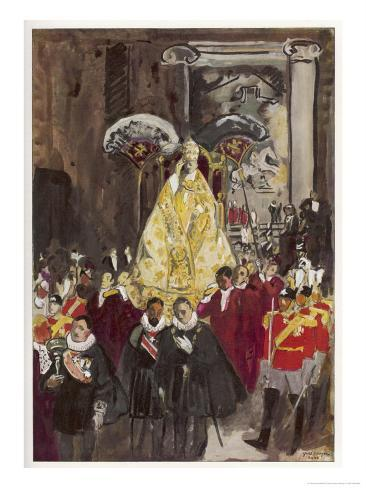 Pope in Procession Giclee Print