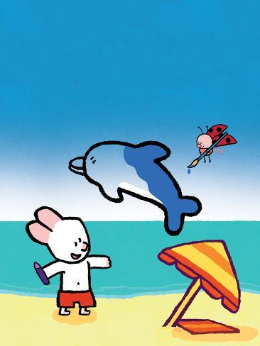 Didou - Louie at the Beach Poster