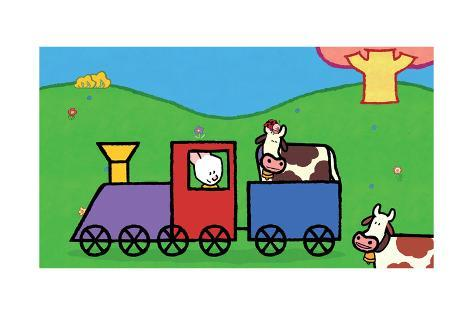 Didou - Louie in the Train Poster