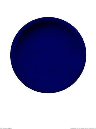 Disco azul, c.1957 (IKB54) Serigrafía