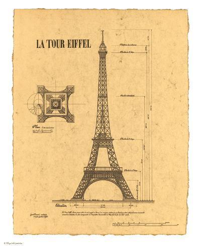 Le Tour Eiffel, Paris, France Art Print