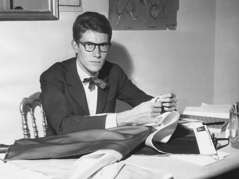 Yves Saint Laurent Opened His Couture Fashion House in Paris in 1961 Photo