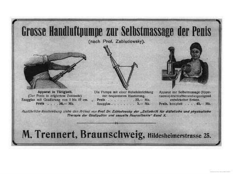 Zabludowsky's Pump for Self Massage of the Penis and of the Breast Lámina giclée