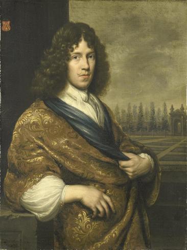Francois Leidecker. Deputy of the Exchequer of Zeeland Art Print