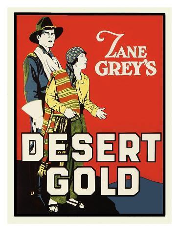 Desert Gold Impressão artística