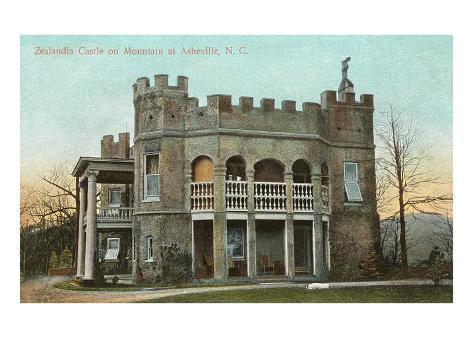 Zealandia Castle, Asheville, North Carolina Art Print