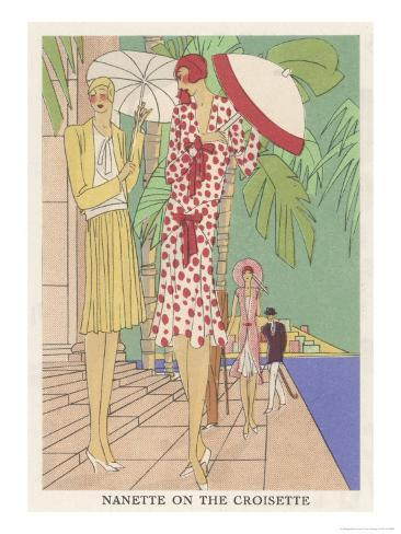 Two Ladies at Cannes Giclee Print