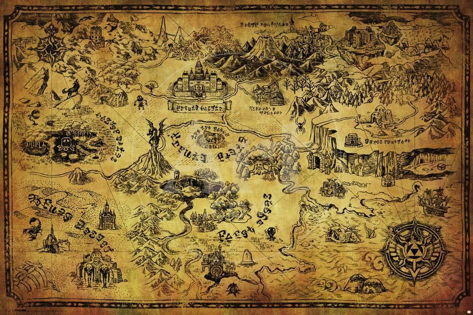 Zelda hyrule map posters allposters privacy preference centre gumiabroncs Choice Image