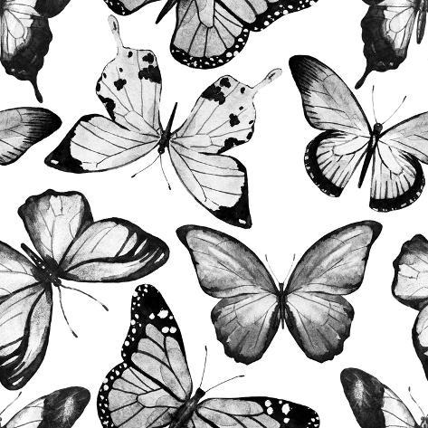 Watercolor Butterfly Pattern Posters By Zenina By AllPostersie Delectable Butterfly Pattern