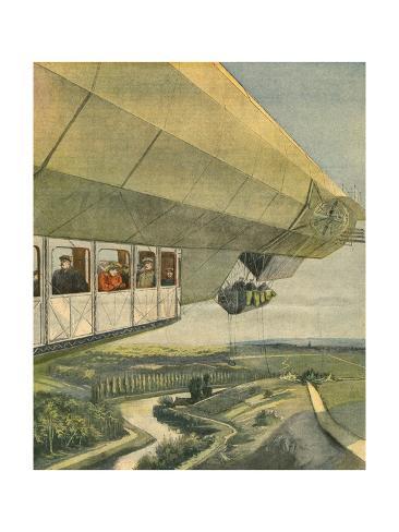 Zeppelin LZ-7 Stampa giclée