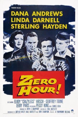 Zero Hour!, from Left: Linda Darnell, Sterling Hayden, Dana Andrews, Peggy King, 1957 Art Print