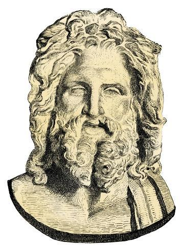 Zeus, King of the Ancient Greek Gods Giclee Print