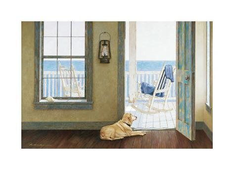 Looking Over the Sea Giclee Print