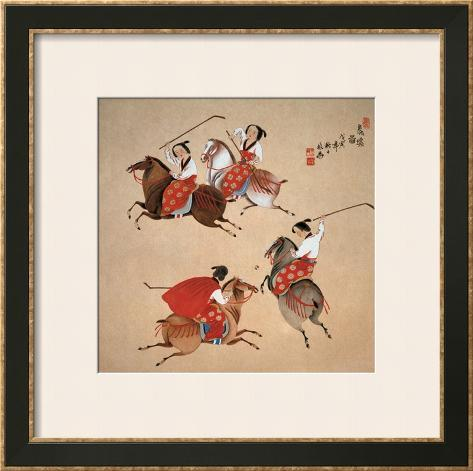 Playing Polo Framed Art Print