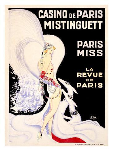 Casino de Paris, Mistinguett Giclee Print