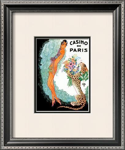 Josephine Baker: Casino De Paris Framed Art Print