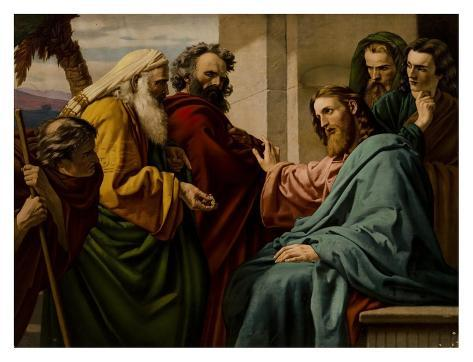 Christ & the Pharisees Art Print