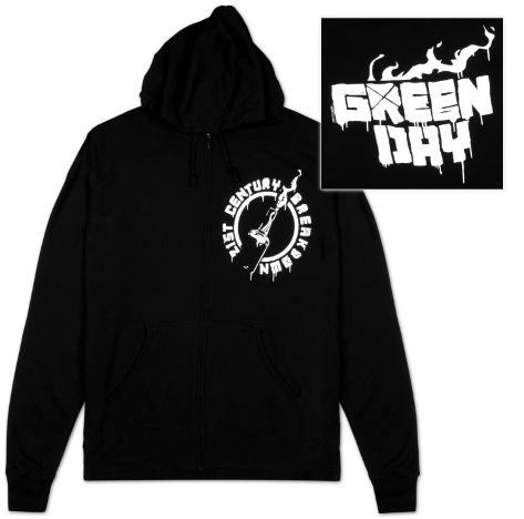 Zip Hoodie: Green Day - Molotov Zip Hoodie