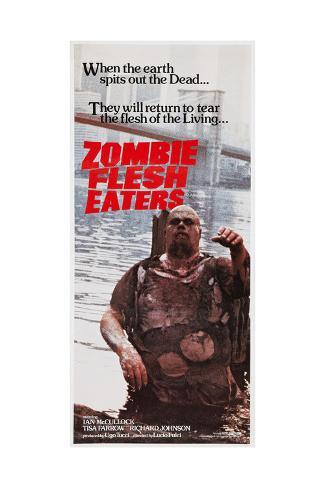 Zombie Flesh Eaters, Australian poster art, 1979 Impressão artística