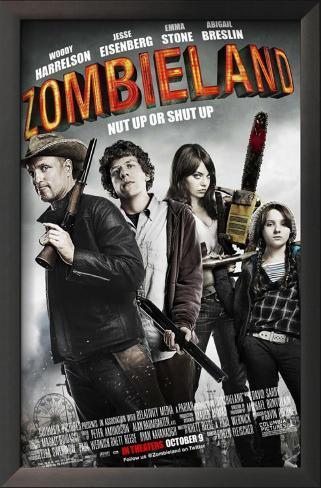 Zombieland Impressão artística emoldurada