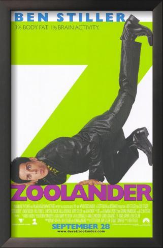 Zoolander Impressão artística emoldurada