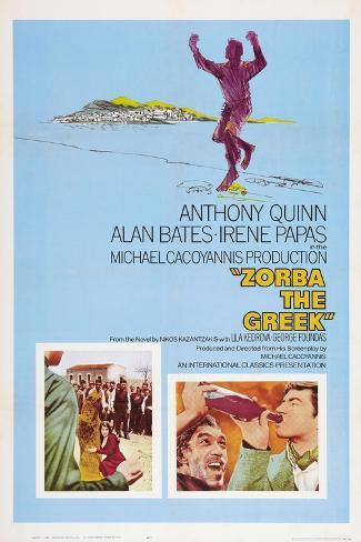Zorba the Greek (aka Alexis Zorbas), Anthony Quinn, 1964 Art Print