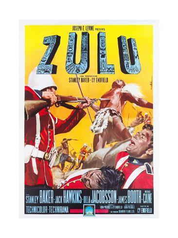 ZULU, Italian poster art, 1964. Art Print