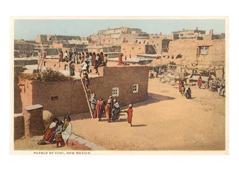 Zuni Pueblo, New Mexico Art Print