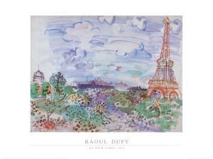 La Tour Eiffel, 1935 by Raoul Dufy