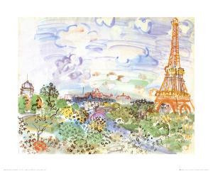 La Tour Eiffel, c.1935 by Raoul Dufy