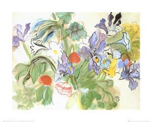 Poppies and Iris by Raoul Dufy