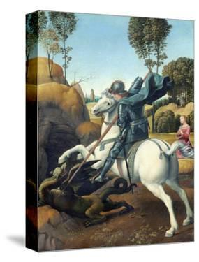 Saint George and the Dragon by Raphael by Raphael