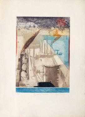 Le Port D'Anvers by René Carcan