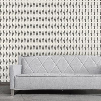 retrogeo greyscale wallpaper by bobby berk
