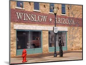 Standing on the Corner Park, Historic Route 66, Winslow, Arizona, USA by Richard Cummins