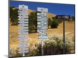 Winery Signs, Santa Ynez Valley, Santa Barbara County, Central California by Richard Cummins